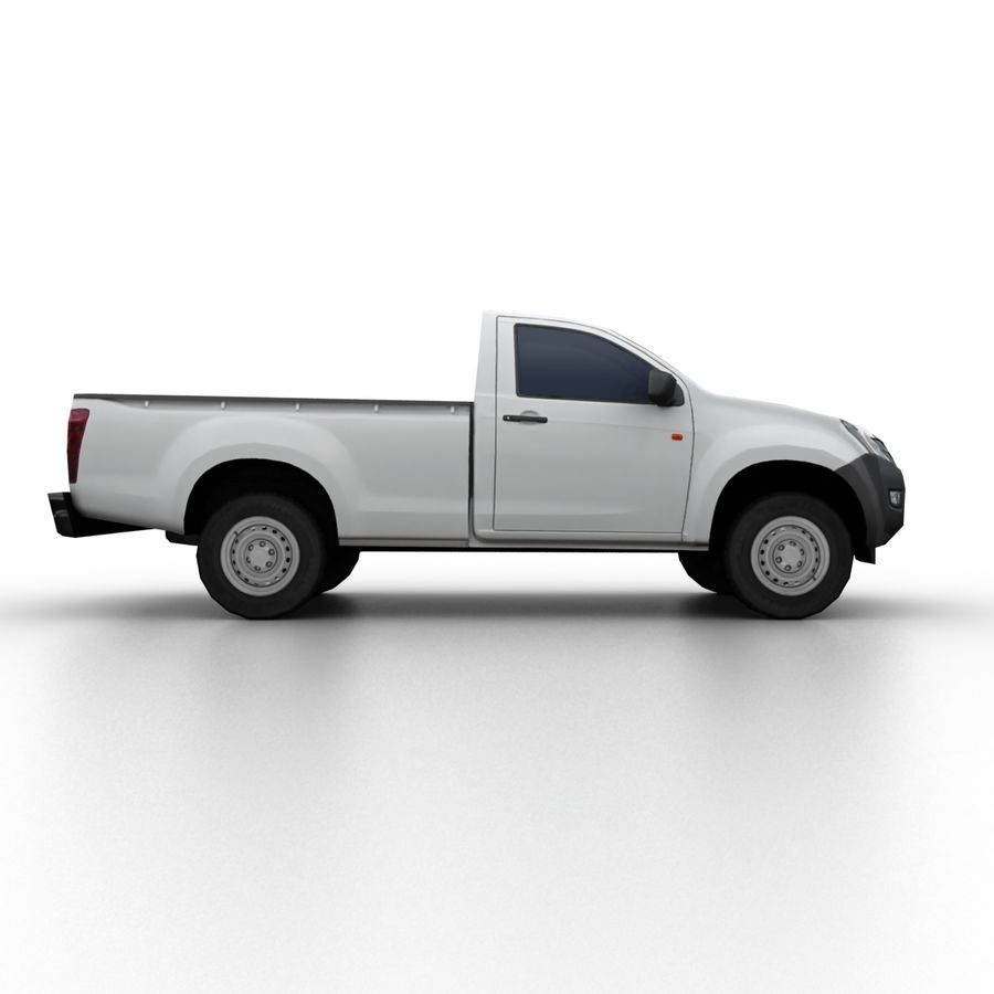 Isuzu D-Max 2013 royalty-free 3d model - Preview no. 3