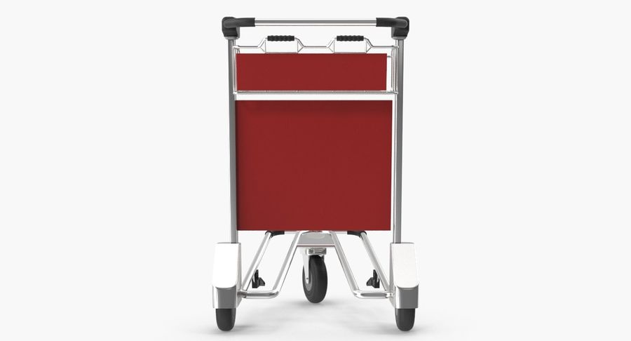Wózek bagażowy na lotnisko royalty-free 3d model - Preview no. 8