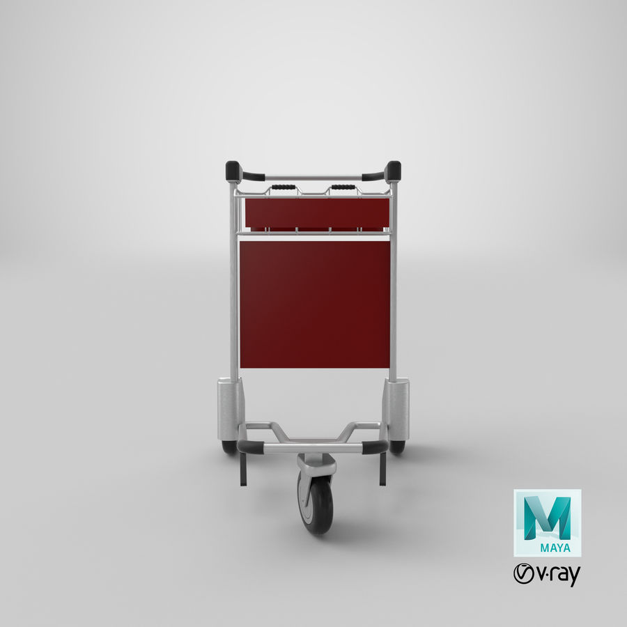 Wózek bagażowy na lotnisko royalty-free 3d model - Preview no. 21