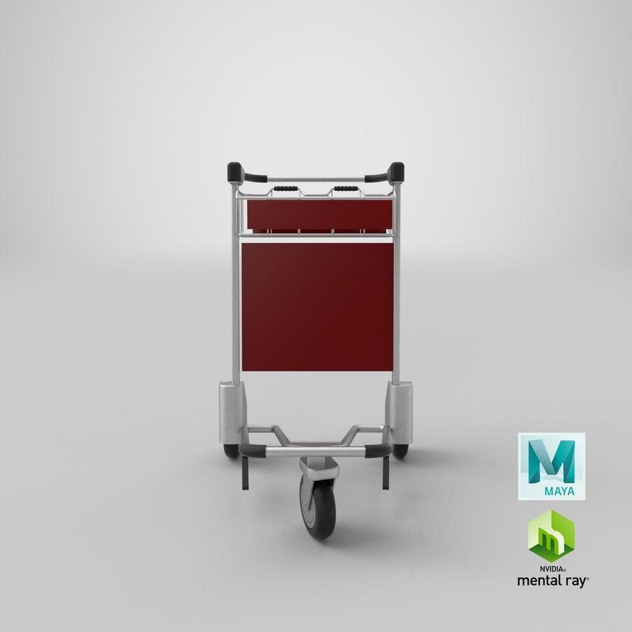 Wózek bagażowy na lotnisko royalty-free 3d model - Preview no. 22