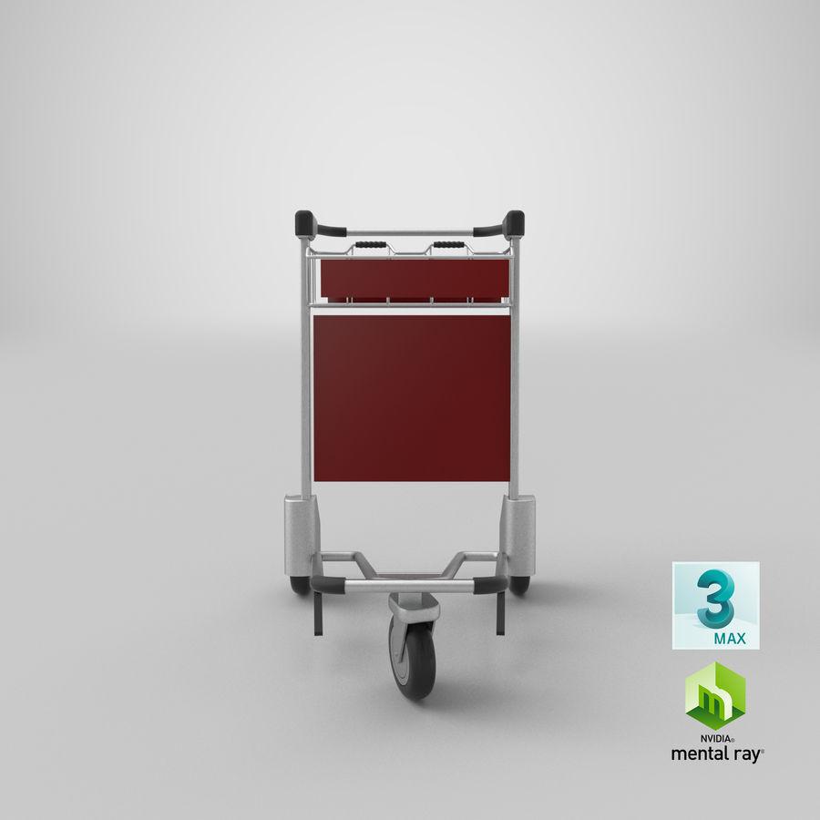 Wózek bagażowy na lotnisko royalty-free 3d model - Preview no. 24