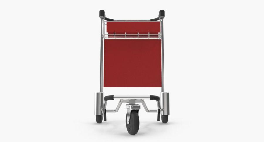 Wózek bagażowy na lotnisko royalty-free 3d model - Preview no. 9