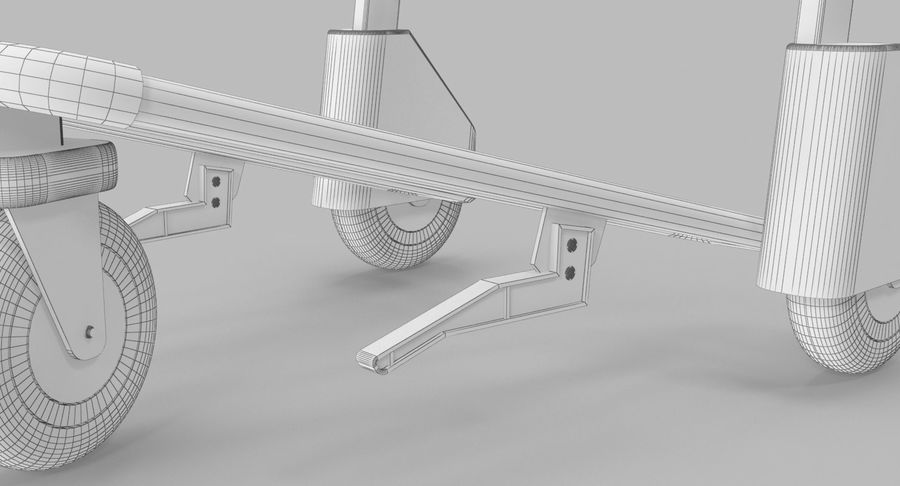 Wózek bagażowy na lotnisko royalty-free 3d model - Preview no. 17