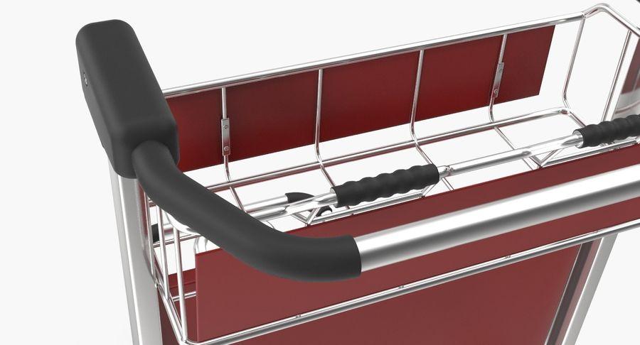 Wózek bagażowy na lotnisko royalty-free 3d model - Preview no. 5