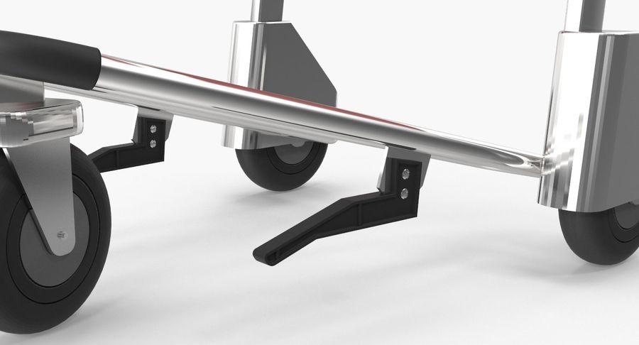 Wózek bagażowy na lotnisko royalty-free 3d model - Preview no. 6