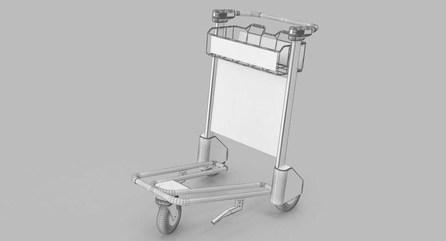 Wózek bagażowy na lotnisko royalty-free 3d model - Preview no. 16