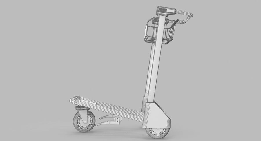 Wózek bagażowy na lotnisko royalty-free 3d model - Preview no. 19