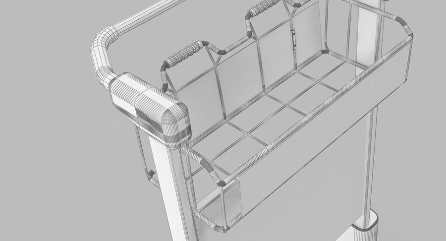Wózek bagażowy na lotnisko royalty-free 3d model - Preview no. 13