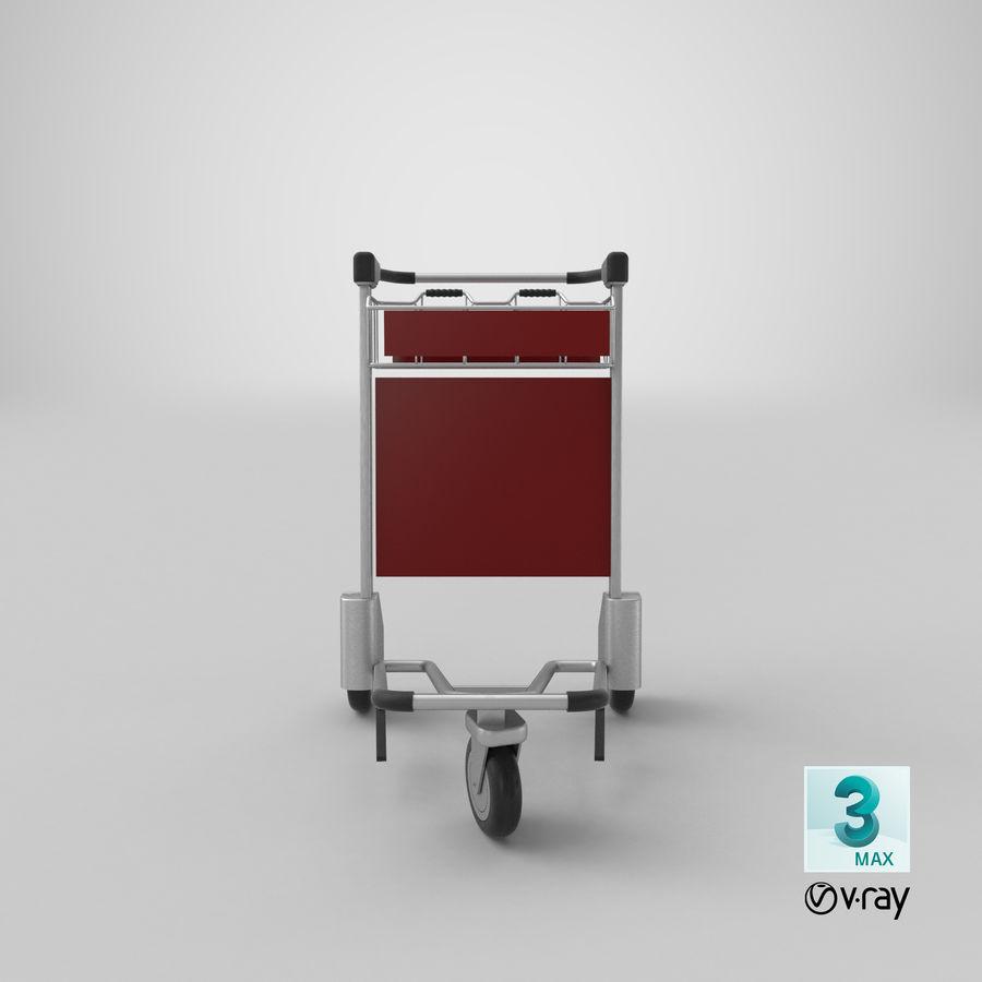 Wózek bagażowy na lotnisko royalty-free 3d model - Preview no. 23