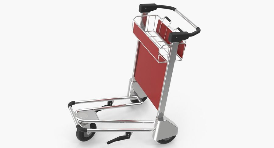 Wózek bagażowy na lotnisko royalty-free 3d model - Preview no. 2