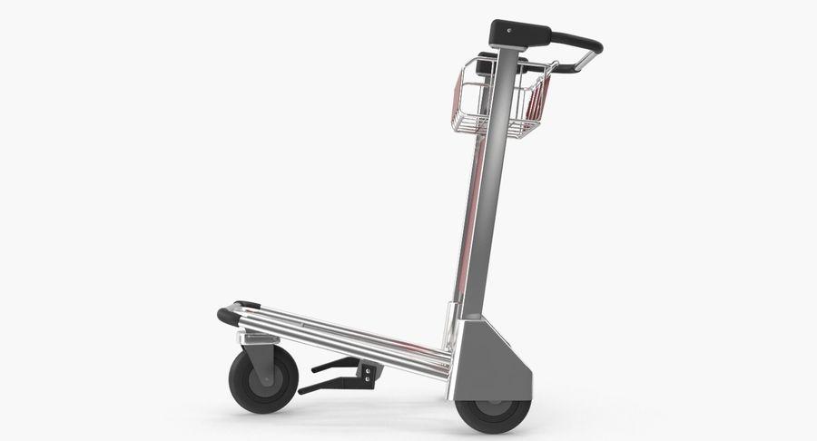 Wózek bagażowy na lotnisko royalty-free 3d model - Preview no. 10