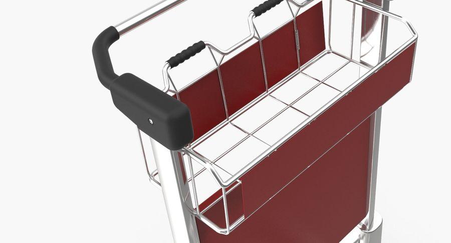 Wózek bagażowy na lotnisko royalty-free 3d model - Preview no. 4