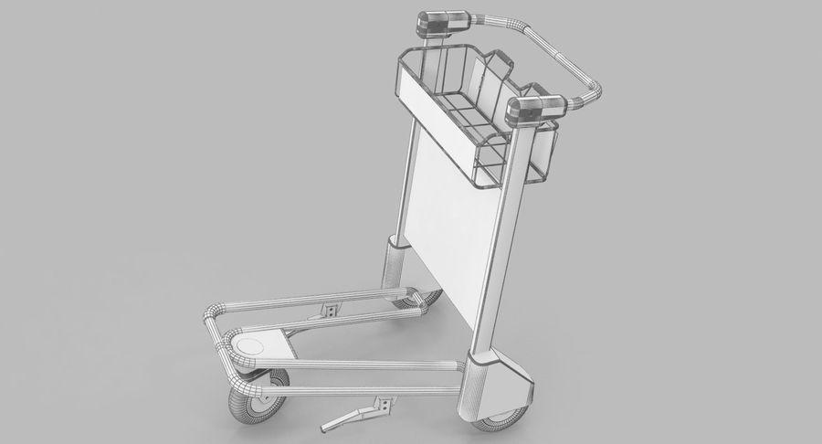 Wózek bagażowy na lotnisko royalty-free 3d model - Preview no. 14