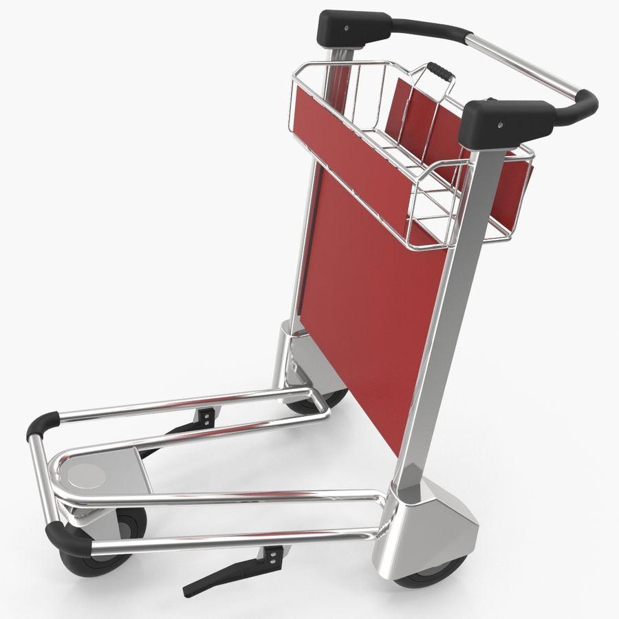 Wózek bagażowy na lotnisko royalty-free 3d model - Preview no. 1
