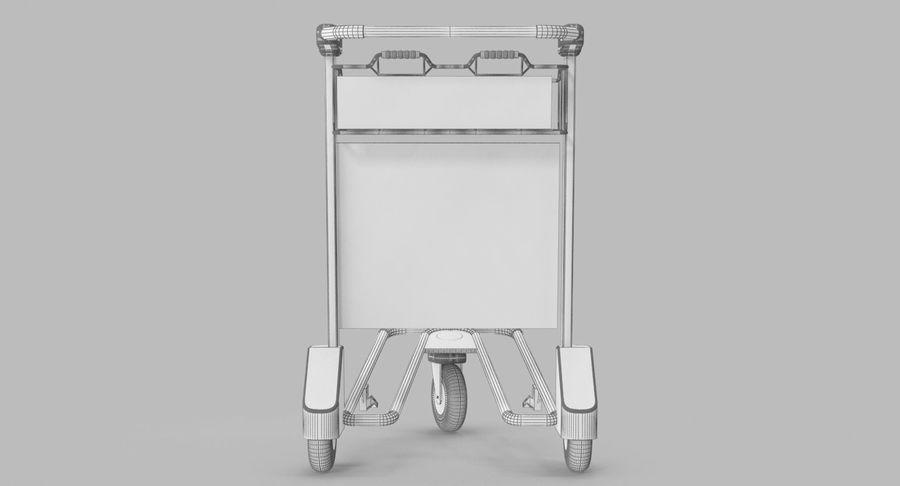 Wózek bagażowy na lotnisko royalty-free 3d model - Preview no. 20