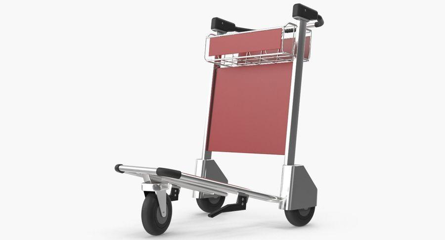 Wózek bagażowy na lotnisko royalty-free 3d model - Preview no. 3