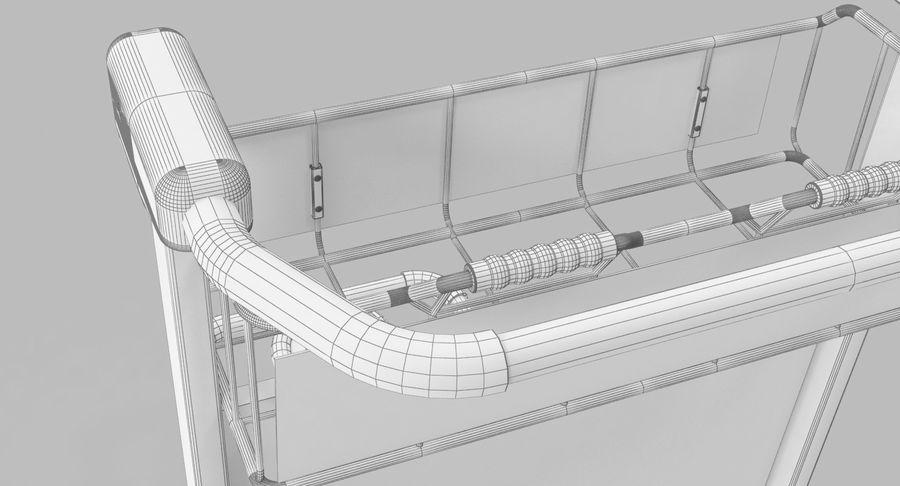 Wózek bagażowy na lotnisko royalty-free 3d model - Preview no. 15