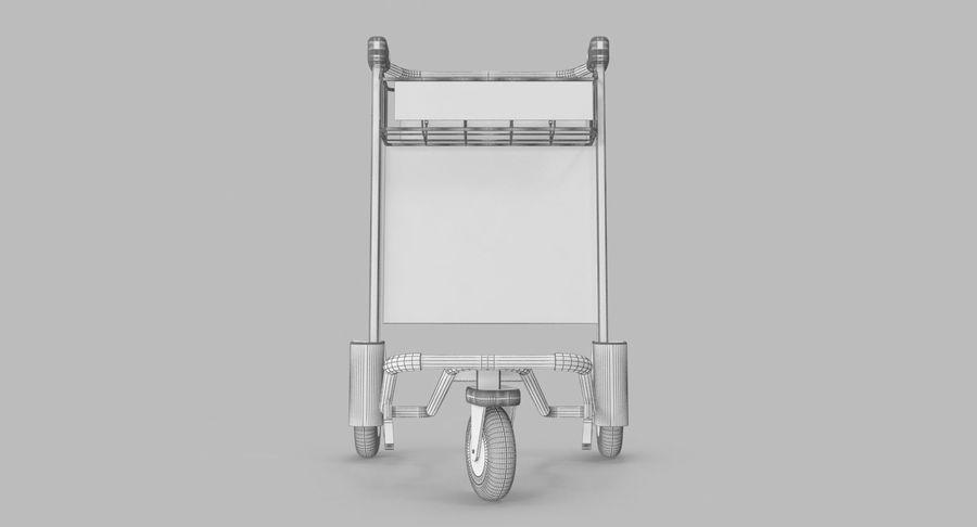 Wózek bagażowy na lotnisko royalty-free 3d model - Preview no. 18