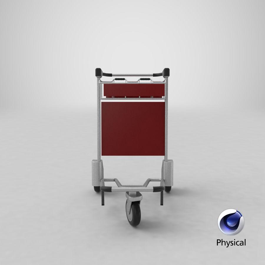 Wózek bagażowy na lotnisko royalty-free 3d model - Preview no. 25