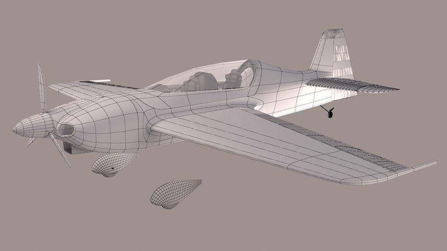 Высший пилотаж Sbach 342 XA-42 royalty-free 3d model - Preview no. 8
