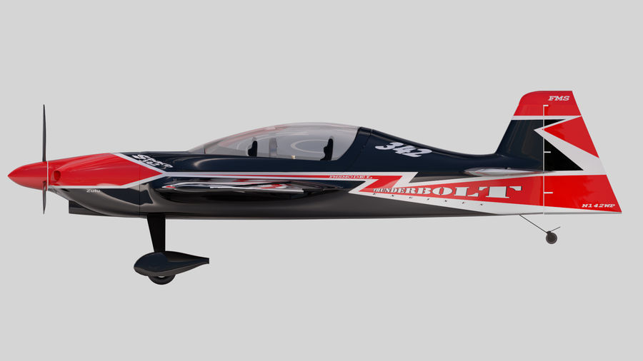 Sbach 342 XA-42 Aerobatic Plane royalty-free 3d model - Preview no. 5
