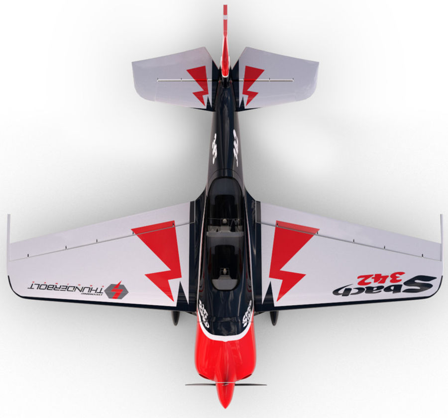 Sbach 342 XA-42 Aerobatic Plane royalty-free 3d model - Preview no. 6