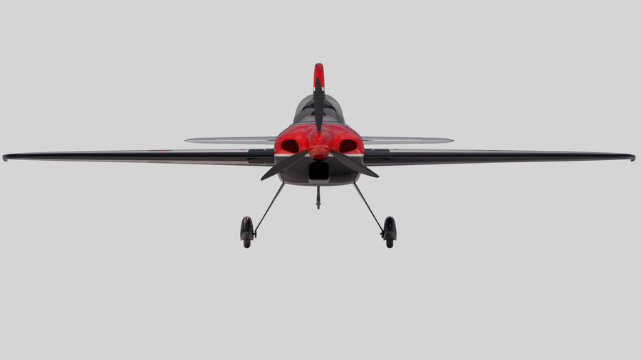 Sbach 342 XA-42 Aerobatic Plane royalty-free 3d model - Preview no. 4