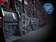 Mega Wall Sci Fi 3d model