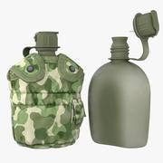1QT Military Canteen 1 (Woodland) 3d model