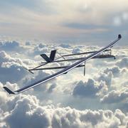Drone solaire 3d model