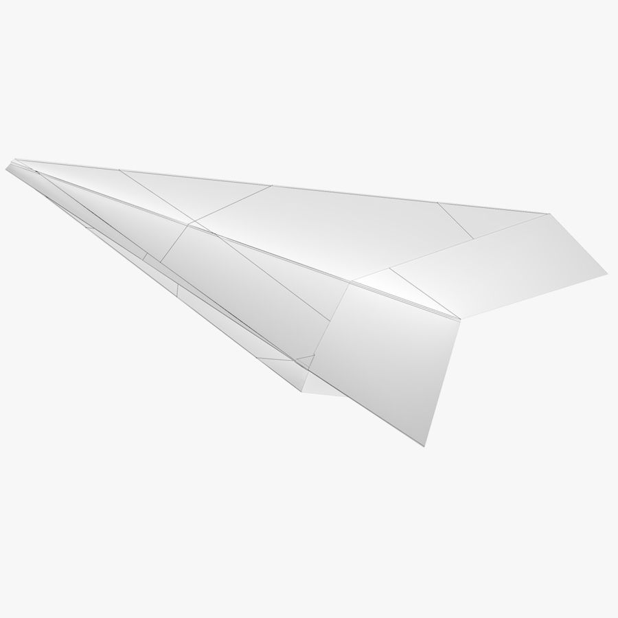 Paper airplane royalty-free 3d model - Preview no. 8