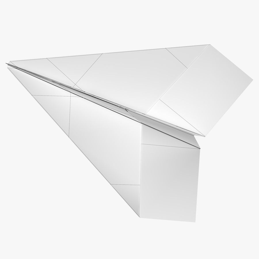 Paper airplane royalty-free 3d model - Preview no. 9