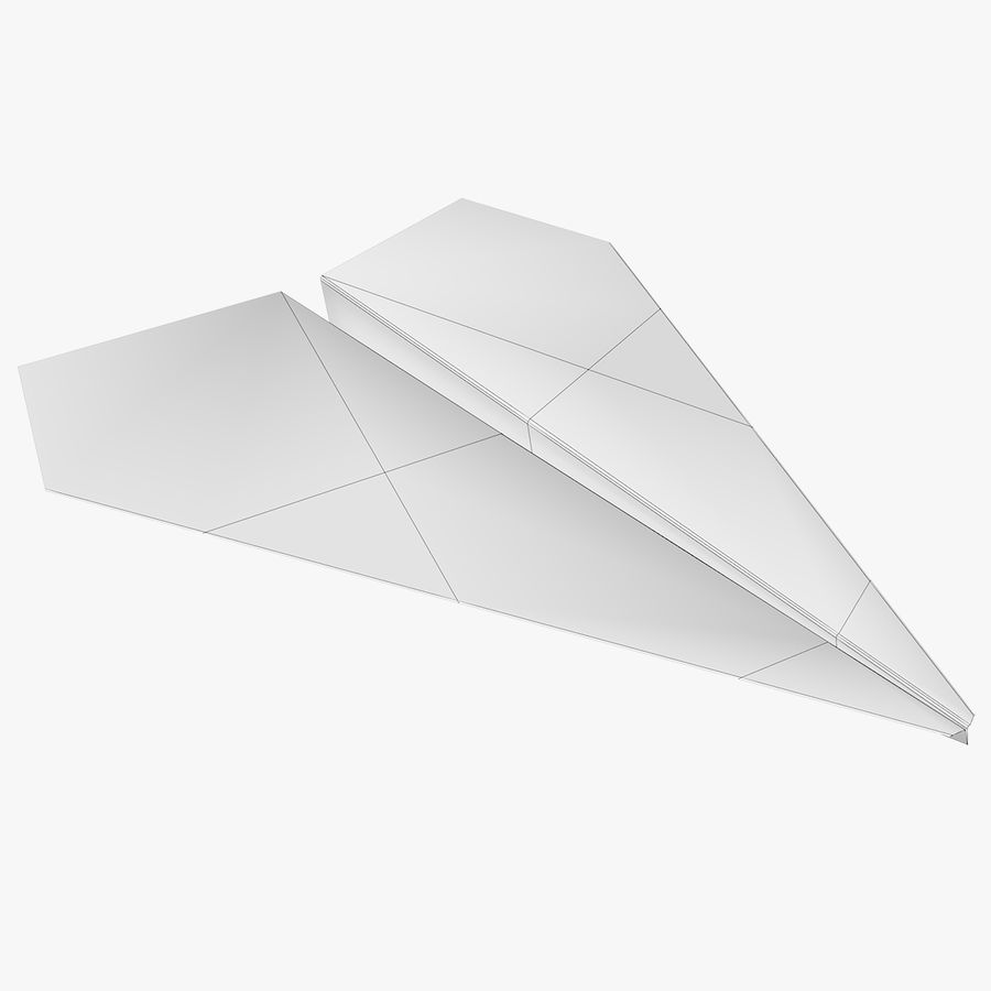 Paper airplane royalty-free 3d model - Preview no. 7