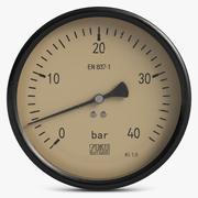 Vintage Meter 2 3d model