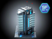 Sci Fi cyberpunk Building HD 3d model