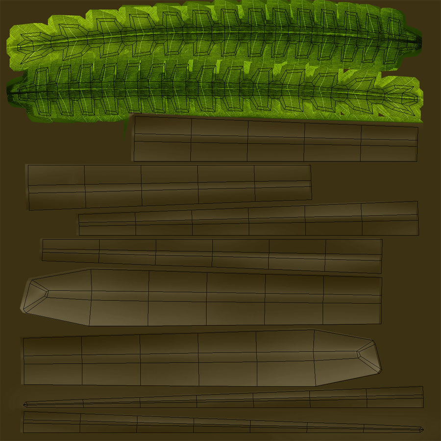 Fern royalty-free 3d model - Preview no. 11