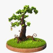Albero dei cartoni animati 3d model