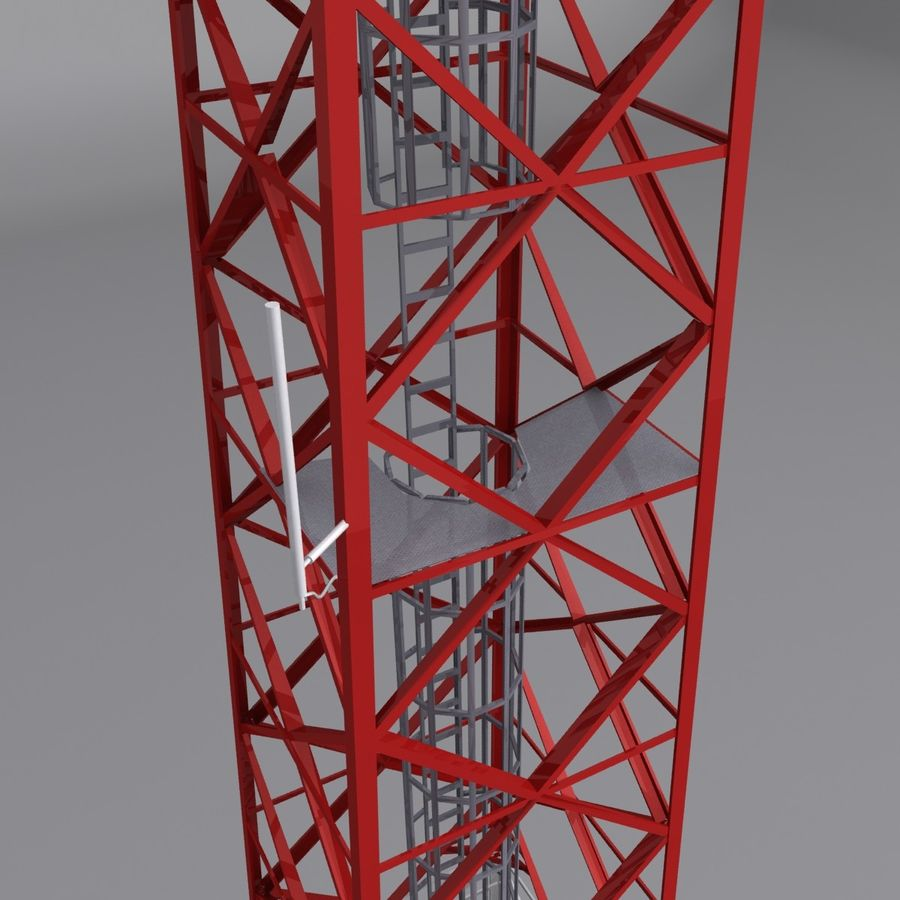 Mobile tower royalty-free 3d model - Preview no. 3