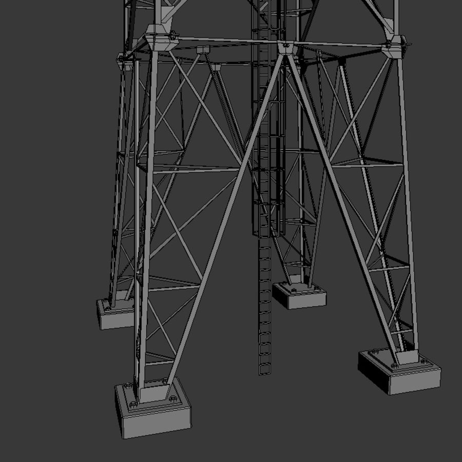 Mobile tower royalty-free 3d model - Preview no. 8
