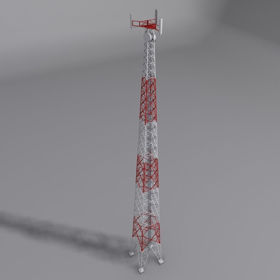 Mobile tower royalty-free 3d model - Preview no. 1
