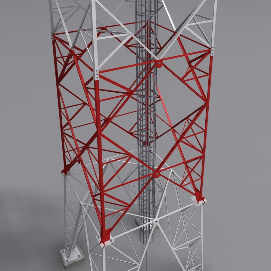Mobile tower royalty-free 3d model - Preview no. 5