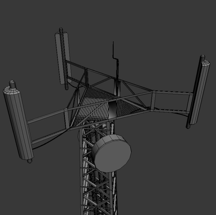 Mobile tower royalty-free 3d model - Preview no. 6