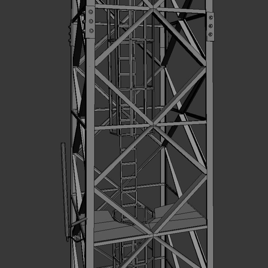 Mobile tower royalty-free 3d model - Preview no. 7