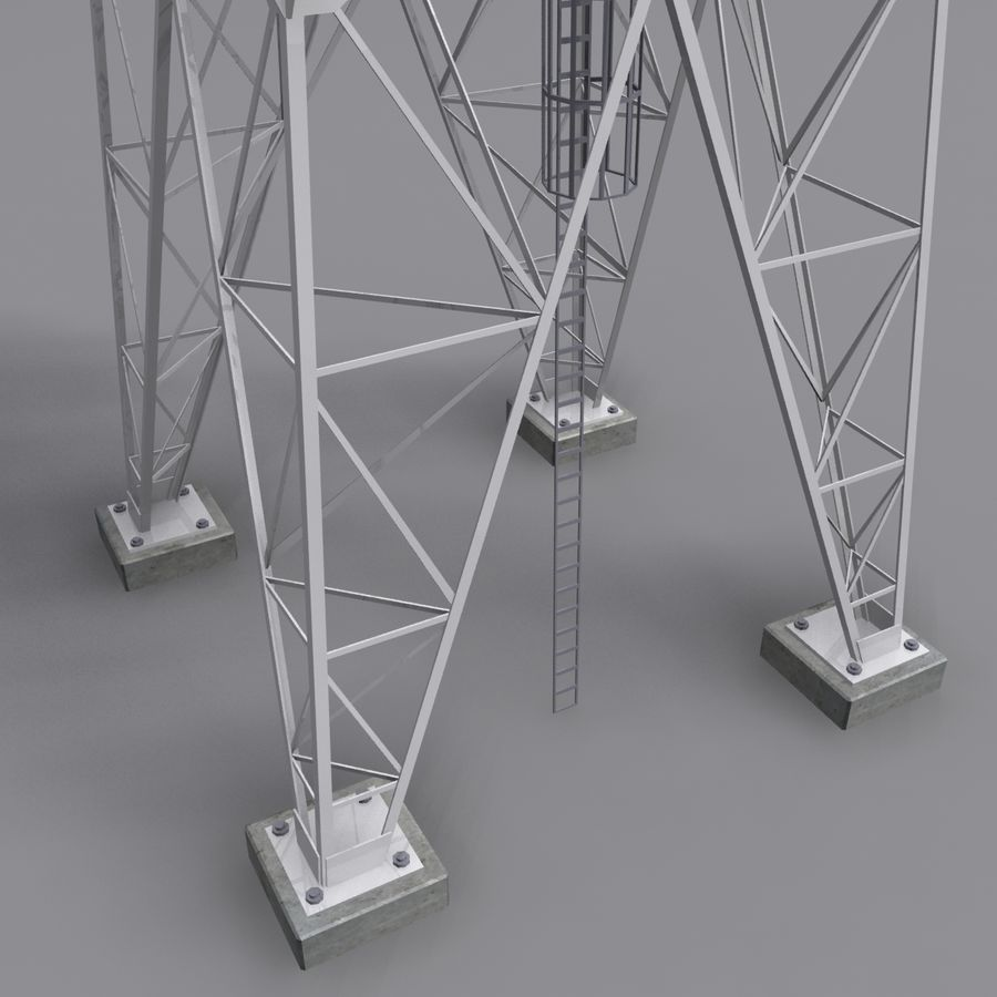 Mobile tower royalty-free 3d model - Preview no. 4
