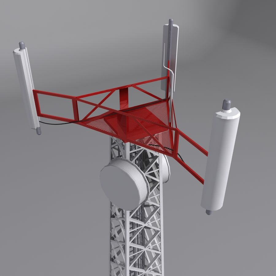 Mobile tower royalty-free 3d model - Preview no. 2