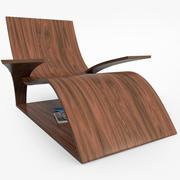 木製のラウンジャー 3d model