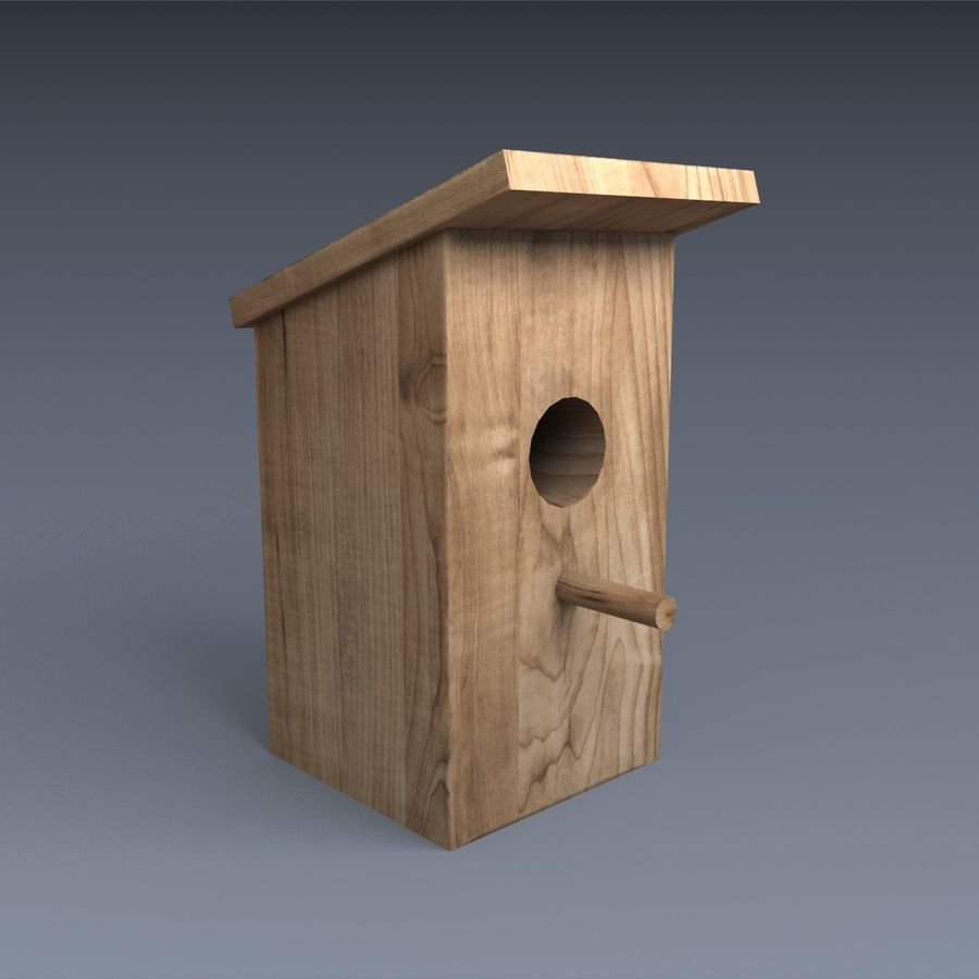 Nest Box royalty-free 3d model - Preview no. 1