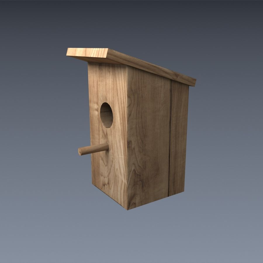 Nest Box royalty-free 3d model - Preview no. 2