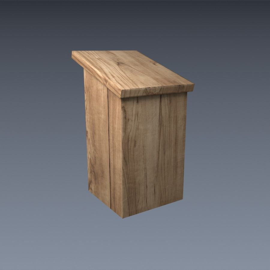 Nest Box royalty-free 3d model - Preview no. 3