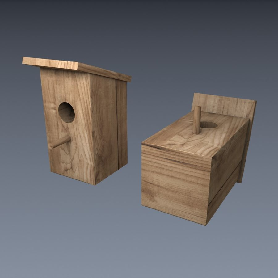 Nest Box royalty-free 3d model - Preview no. 4